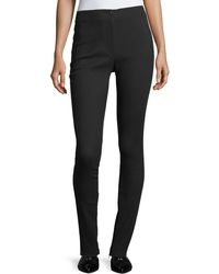 Helmut Lang - Mid-rise Fitted Zip-cuffs Stretch Wool Pants - Lyst