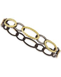 Armenta - Midnight & Yellow Gold Circle Link Bangle With Diamonds - Lyst