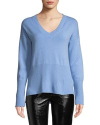 10 Crosby Derek Lam - Ribbed V-neck Cashmere Sweater - Lyst