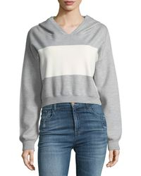 Alice + Olivia - Kyle Double Knit Cropped Hoodie - Lyst
