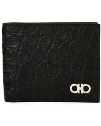 Ferragamo - Men's Crocodile 8-card Bi-fold Wallet - Lyst