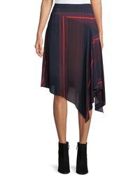 Joie - Moni Striped Asymmetric Midi Skirt - Lyst