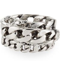 Emanuele Bicocchi - Men's Spiral Curb Chain Ring - Lyst