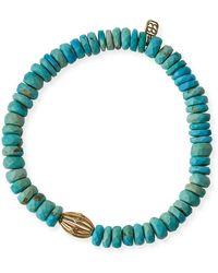Sydney Evan - 8mm Turquoise Beaded Bracelet W/ 14k Diamond Ball Charm - Lyst