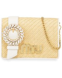 Miu Lady straw bag Miu Miu eaaLuB