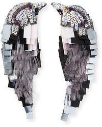 Mignonne Gavigan - Beaded Bird Statement Earrings - Lyst