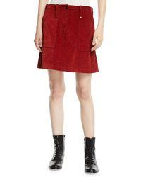 McQ - Major Patch-pocket Short Skirt - Lyst