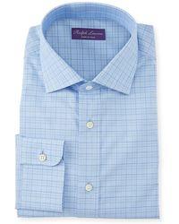 Ralph Lauren - Men's Aston Windowpane Dress Shirt - Lyst
