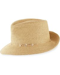 Eric Javits - Mustique Squishee Packable Sun Fedora Hat - Lyst