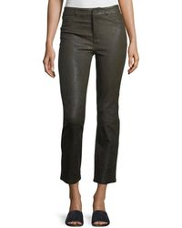 PAIGE - Jacqueline Straight-leg Stretch-leather Pants - Lyst