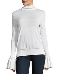 Adam Lippes - Bell-sleeve Knit Turtleneck Sweater - Lyst