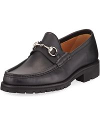 Gucci - Leather Moccasin - Lyst