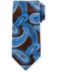 Ermenegildo Zegna - Large-paisley Silk Tie - Lyst