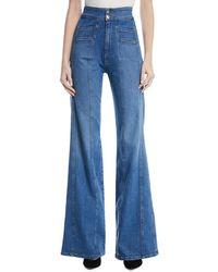 Veronica Beard - Farrah High-waist Wide-leg Jeans - Lyst