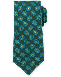 Kiton - Fancy Ovals Silk Tie - Lyst