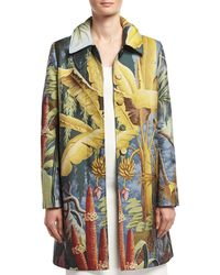 Adam Lippes - Jungle-print Rain Coat - Lyst