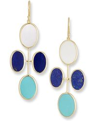 Ippolita - 18k Polished Rock Candy Elongated Oval Clover Earrings In Viareggio - Lyst