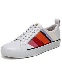 Diane von Furstenberg - Tess-3 Striped Leather Lace-up Sneakers - Lyst