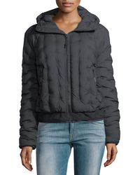 The North Face - Quilted Puffer Hooded Bomber Jacket - Lyst