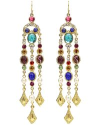Ben-Amun - Multicolor Dangle Drop Earrings - Lyst