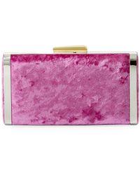 Hayward - Long Box Crushed Velvet Clutch Bag - Lyst