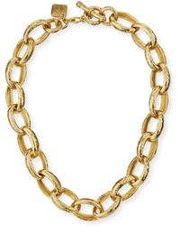 Ashley Pittman - Kijami Bronze Link Necklace - Lyst