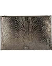 Tom Ford - Cosmo Metallic Python Zip Pouch - Lyst