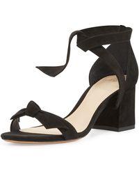 Alexandre Birman - Clarita Suede 60mm City Sandals - Lyst