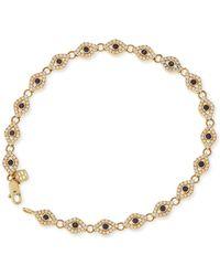 Sydney Evan - 14k Evil Eye Diamond & Sapphire Link Bracelet - Lyst