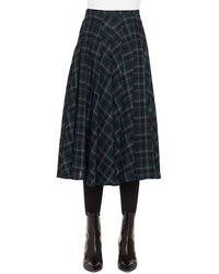 Akris Punto - A-line Brit-check Midi Skirt - Lyst