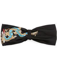 Jennifer Behr - Silk Satin Dragon Turban Head Wrap - Lyst