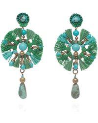 Ranjana Khan - Green Fan Earrings - Lyst