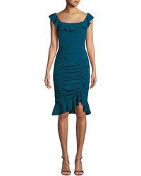 Nanette Lepore - Sunset Silk Dress W/ Ruching - Lyst