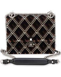 3b0bae469c22 Fendi - Kan I Mini Velvet Tappetino Shoulder Bag - Lyst