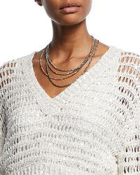Brunello Cucinelli - Golden Glass Wrap Bracelet Necklace - Lyst