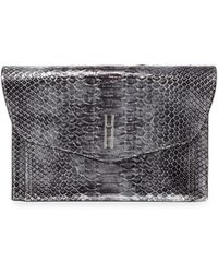 Hayward | Bobby Python Envelope Clutch Bag | Lyst