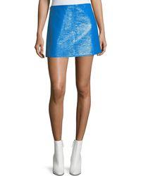 54a8b42231 Isabel Marant Jeanne Metallic Coated Cotton-blend Mini Skirt in Black - Lyst