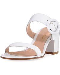 Gianvito Rossi - Leather Two-strap Buckle Slide Sandal - Lyst