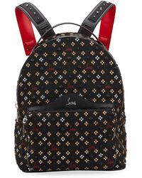 8a2b44231c8b Christian Louboutin - Backloubi Metallic Embroidered Backpack - Lyst