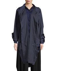 Issey Miyake - Zip-front Hooded Foldable Rain Jacket - Lyst