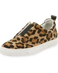 Pierre Hardy - Slider Leopard-print Suede Stretch Low-top Trainers - Lyst