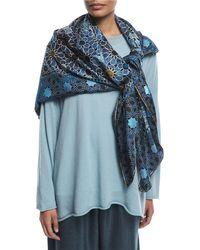 Eskandar - Printed Silk Shawl - Lyst