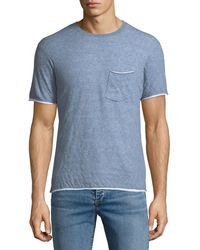 Rag   Bone - Men s Tripp Contrast-trim T-shirt - Lyst 469393978f1