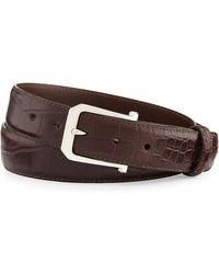 "W. Kleinberg - Matte Alligator Belt With ""the Paisley"" Buckle - Lyst"
