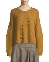 Nanette Lepore - Perfect Baby Alpaca/wool Pullover Sweater - Lyst