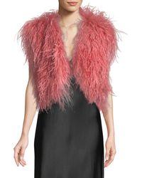 Adrienne Landau - Iris Apfel Ostrich Feather Vest - Lyst