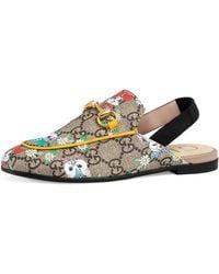 16430aa6b616 Gucci - Princetown Gg Supreme   Pets Horsebit Mule Slide - Lyst