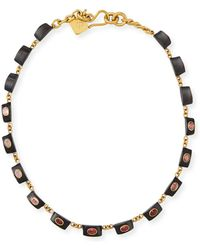 Ashley Pittman - Zambarau Dark Horn Station Necklace - Lyst