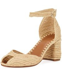 Carrie Forbes - Laila Raffia Ankle Sandals - Lyst