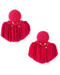 Sachin & Babi - Mini Cha Cha Clip-on Tassel Earrings - Lyst